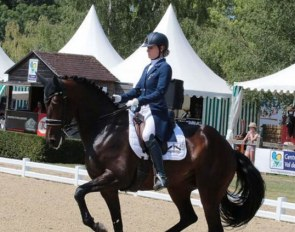 Anne Sophie Serre and Actuelle de Massa at the 2020 French Championships in Vierzon