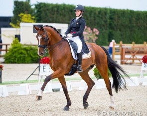 Kayleigh Buelens and Fifty Ways to Victory riding to gold at the 2019 Belgian Dressage Championships :: Photo © Digishots
