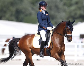 Sita Hopman and Brouwershaven Uthopia II at the 2020 European Pony Championships :: Photo © Astrid Appels