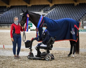 Rebecca Hart and El Corona Texel are the 2020 U.S. Para Grade III Champions