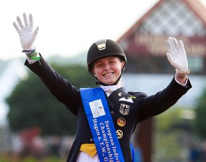 Sanneke Rothenberger became the first ever European Under 25 Champion in 2016. The event was hosted at Hof Kasselmann in Hagen :: Photo © Astrid Appels