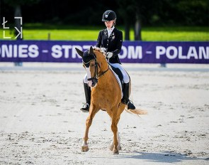 Hanna Hoffer and Macciato at the 2019 European Pony Championships :: Photo © Lukasz Kowalski