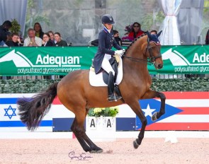 Olivia Lagoy-Weltz and Rassing's Lonoir at the 2021 CDI-W Wellington :: Photo © Sue Stickle