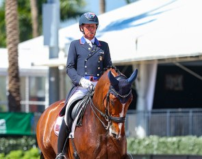Steffen Peters and Suppenkasper in the 5* Grand Prix for Kur at the 2021 CDI Wellington :: Photo © Sue Stickle