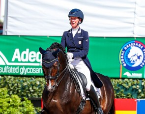 Sabine Schut-Kery and Sanceo in the GP Special at the 2021 CDI 5* Wellington :: Photo © Sue Stickle