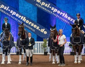 The four Australian Young Horse Champions of 2021: Imagine, Tito, Fangio and Quincy B  :: Photo © Simon Scully/DSJWTS