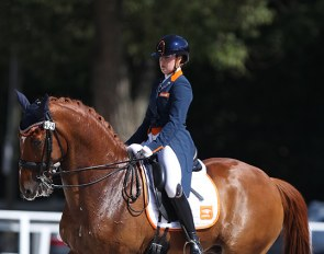Jeanine Nieuwenhuis and TC Athene at the 2020 European Under 25 Championships in Budapest :: Photo © Astrid Appels