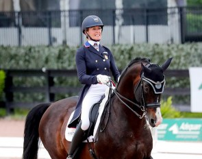 Charlotte Jorst and Nintendo at the 2021 CDI Wellington :: Photo © Sue Stickle