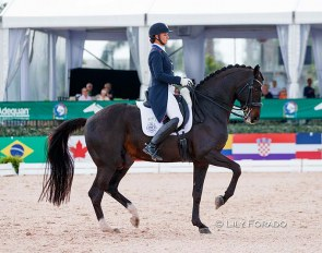 Adrienne Lyle and Salvino at the 2021 CDI Wellington :: Photo © Lily Forado