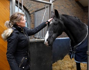 Anky van Grunsven with her 2004 and 2008 Olympic Champion Salinero