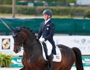 Benjamin Ebeling and Illuster van de Kampert at the 2021 CDI Wellington :: Photo © Lily Forado