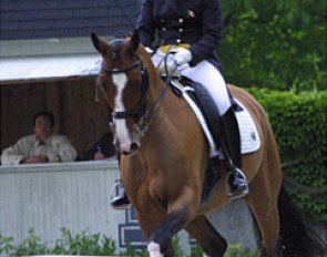 Judy Reynolds and Remember at the 2009 CDI Achleiten