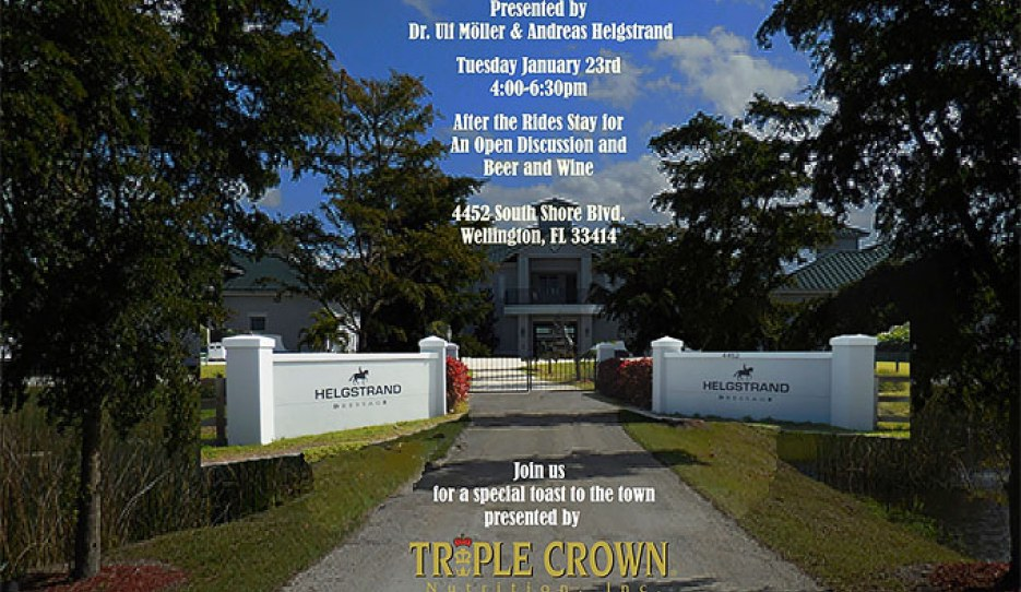 Open Training at Helgstrand U.S.A., sponsored by Triple Crown
