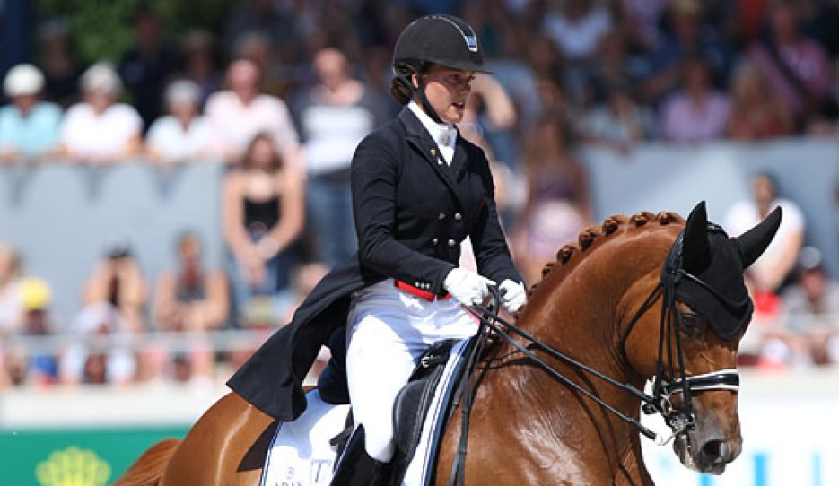 Cathrine Dufour and Atterupgaards Cassidy at the 2018 CDIO Aachen :: Photo © Astrid Appels