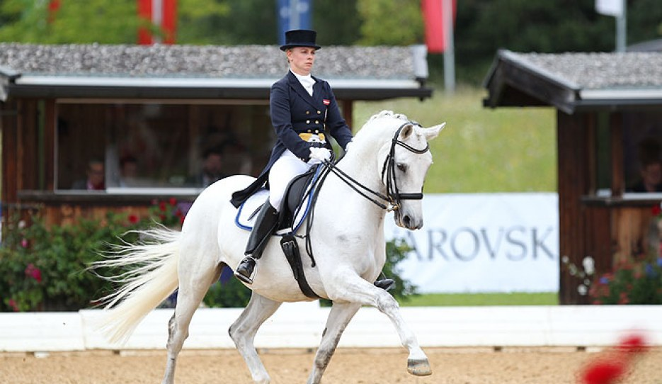 Stefanie Palm and Royal Happiness at their last CDI, the 2018 CDI Fritzens in Austria :: Photo © Astrid Appels