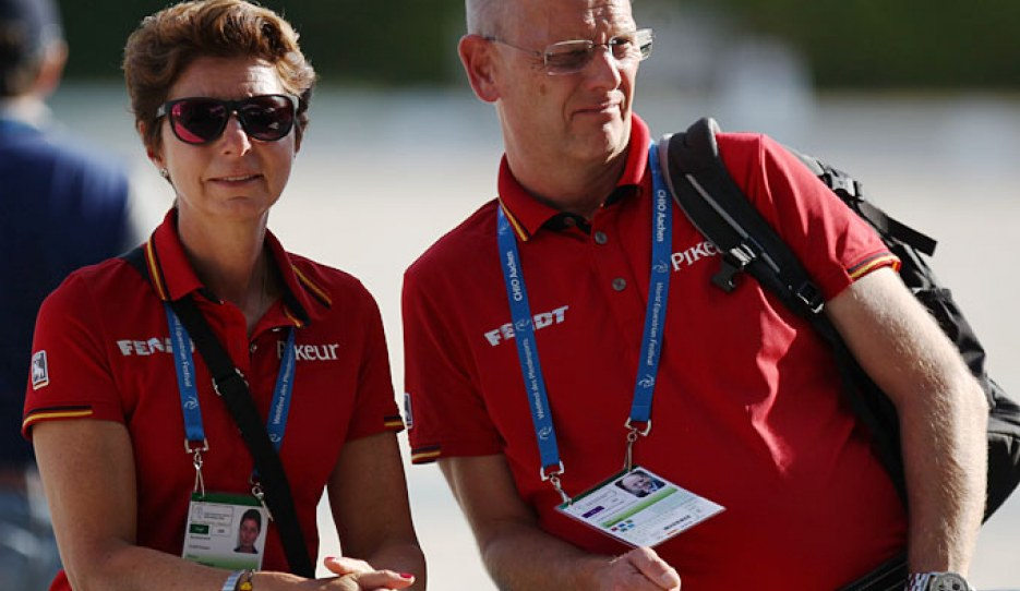 German team trainer Monica Theodorescu and German team captain Klaus Roeser :: Photo © Astrid Appels