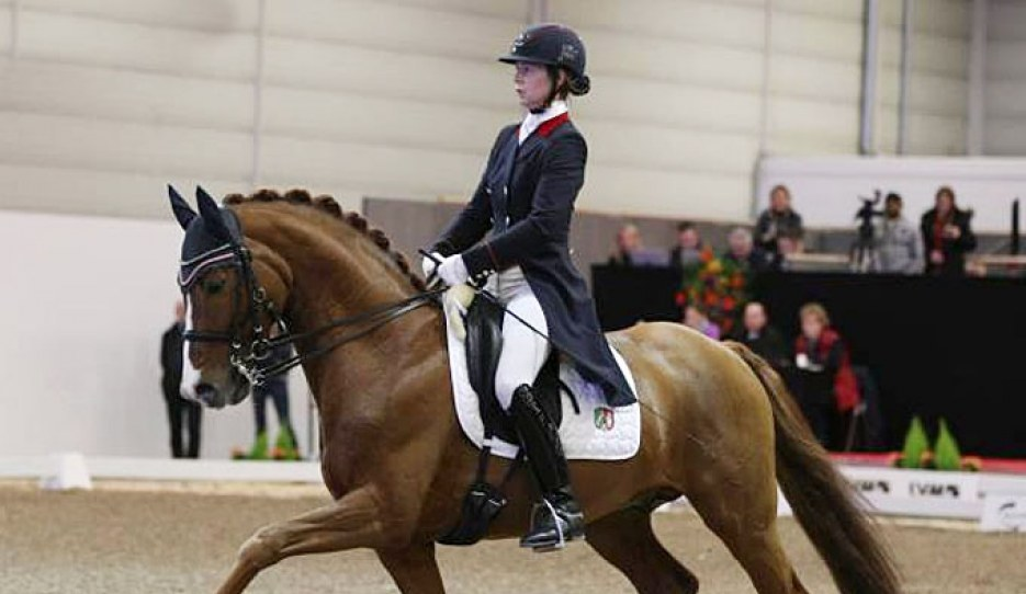 Anja Wilimzig and Sir Heinrich at the 2016 CDN Munster Indoor :: Photo © LL-foto