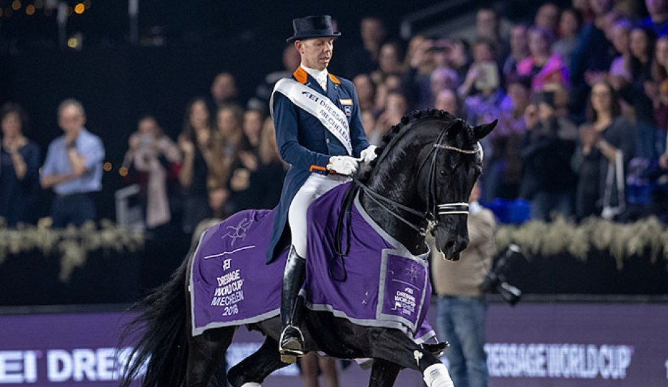 Glock's Dream Boy was sold in the KWPN Select Sale as a young stallion and won a silver team medal at the European Championships past summer. His (grand)sons Mahler and Mandela will be auctioned this year.
