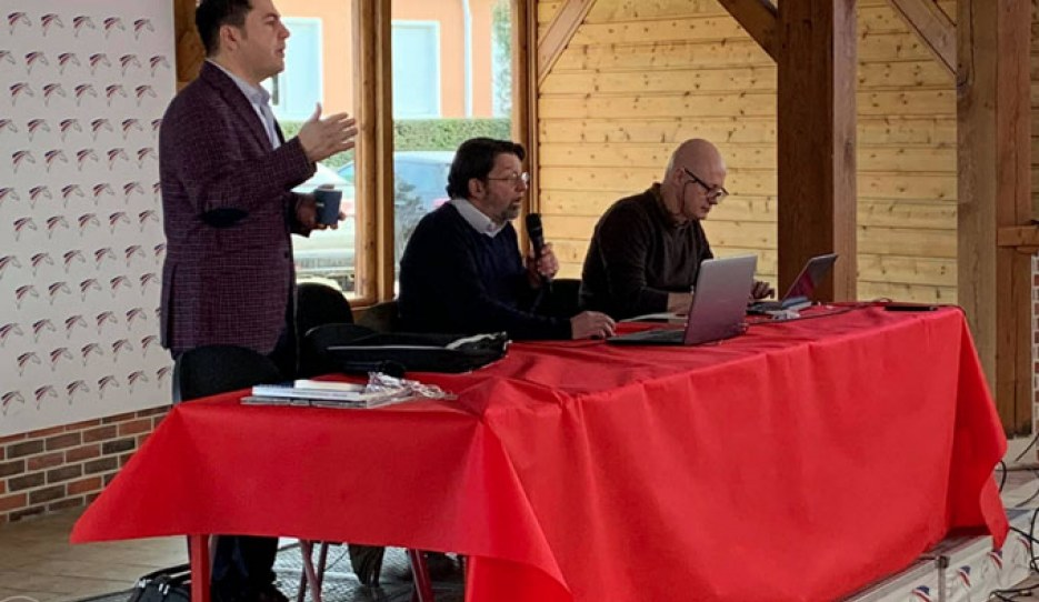 Raphael Saleh and Lionel Du Tranoy at the 2020 FFE Judges Seminar in Lamotte-Beuvron, France