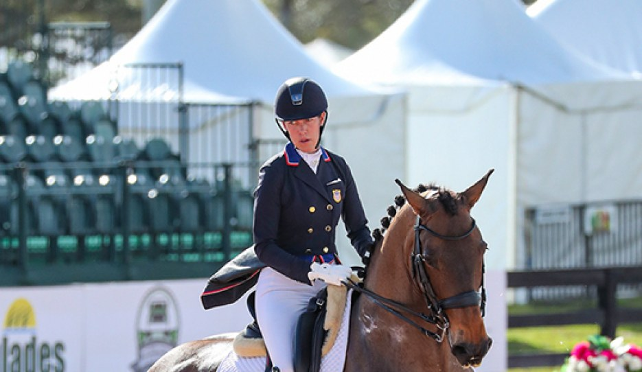 Olivia Lagoy-Weltz and Rassing's Lonoir at the 2020 CDI-W Wellington :: Photo © Sue Stickle