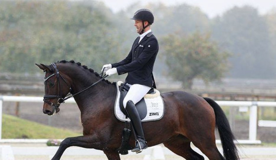 Marcus Hermes and Von Herzen FH at the First German WCYH Selection trial in Warendorf :: Photo © LL-foto