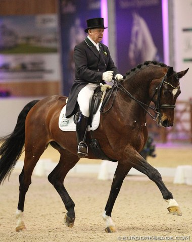 Back in the show ring: Ireland's Dane Rawlins (62) on Espoire