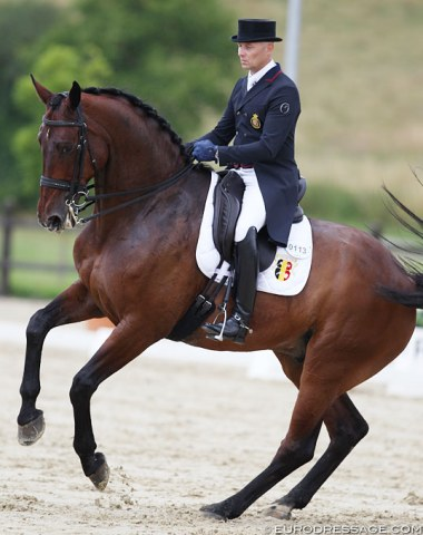 Jeroen Devroe and Eres DL made their come back to the CDI show ring after a 14-month absence due to an injury