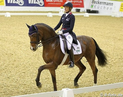 Ingrid Klimke and SPH Dante were the runners-up in the Louisdor Cup Qualifier