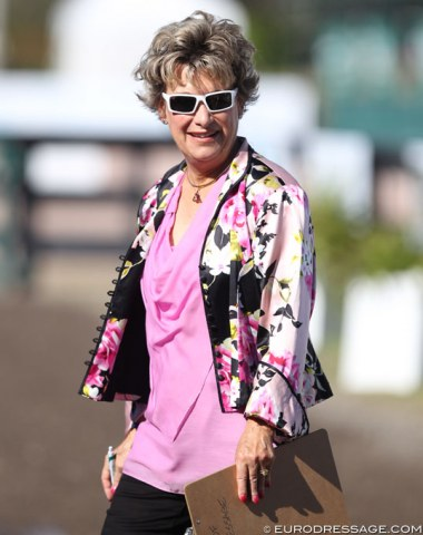 American 5* judge Janet Foy working the horse inspection