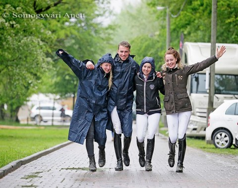 Rain didn't dampen the spirit of these riders