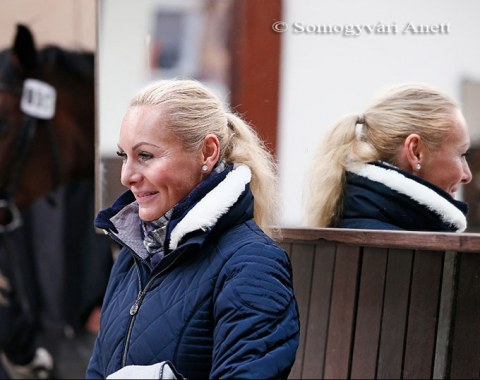 Erica Szeicz at the horse inspection