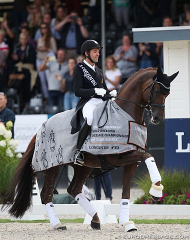 Stunning 7-year old D'Avie shows off passage in the prize giving