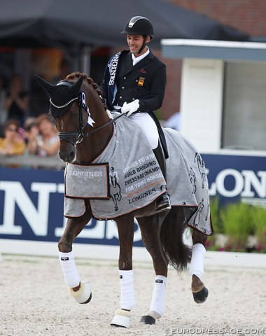 ... but it's not necessary to show this at a young horse world championships. The horse's talent for piaffe is obvious