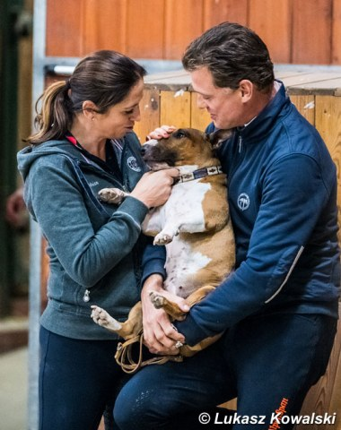 Belinda Weinbauer and Peter Gmoser with their dog