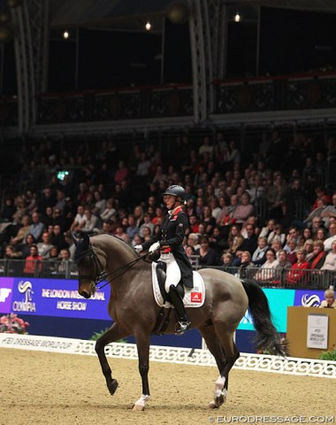 A sell out crowd watching the short Grand Prix at Olympia