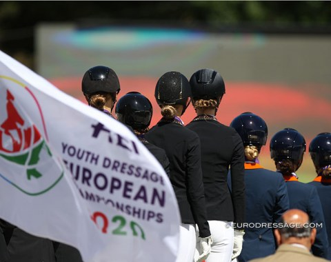 The team podium at the 2020 European Pony Championships