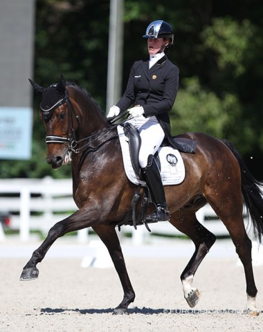 Laura Luyten on the home bred Lamborghini J2L. This pair trains with Brecht d'Hoore