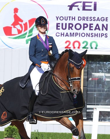 Daphne and Cupido are the 2020 European Young Riders Kur gold medal winners