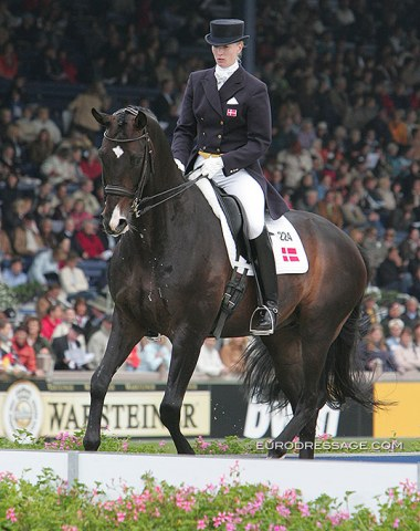 At their first major championship: the 2006 World Equestrian Games in Aachen, where they were 39th in the Grand Prix