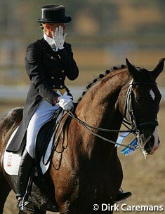 Anky van Grunsven and Salinero at the 2004 Olympic Games