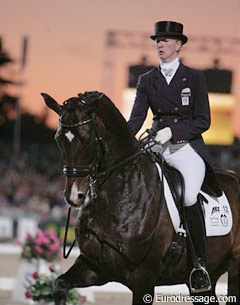 Nathalie and Digby at the 2009 European Championships in Windsor