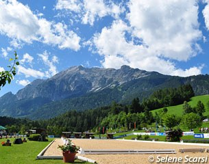 The beautiful Schindlhof arena in the Austrian alps