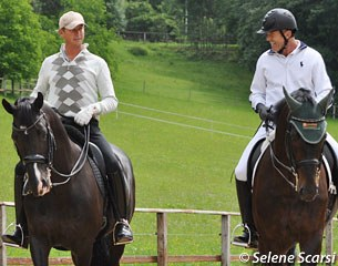Carl Hester and Guenter Seidel chatting