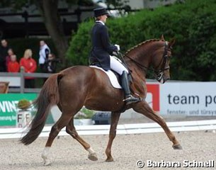 Anabel Balkenhol on her second horse Winci