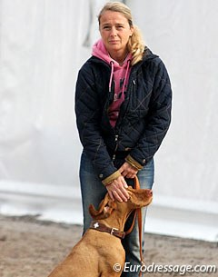 Sabine Becker and her dog Leni