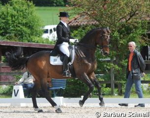 Ann Kristin Dornbracht and Lancelot getting coached by Jan Bemelmans