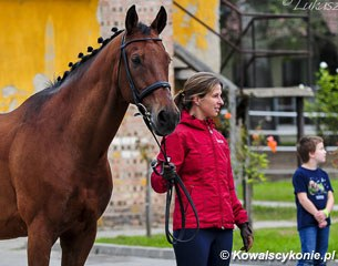 Alina Rohricht at the horse inspection