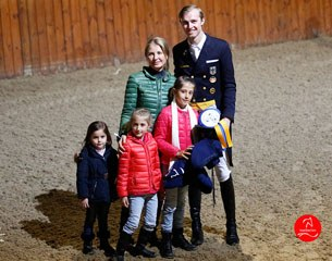 Grand Prix winner Sönke Rothenberger with sponsor Irina Zakhrabekova and her children