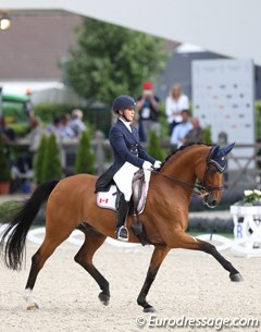 Jill Irving and Degas at the 2017 CDIO Aachen :: Photo © Astrid Appels