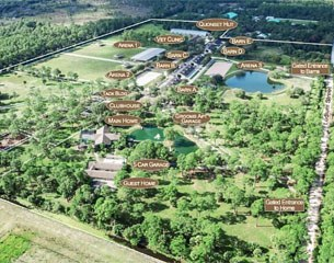 Aerial of the 55-acre property on 5526 SW Ludlum Street, Palm City, Florida